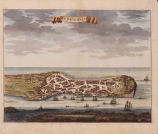 VIEW OF 17TH CENTURY MACAO    by Valentyn, Francois (1666-1727)