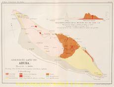 Geologische Karte von Aruba by Martin, Johann Karl Ludwig