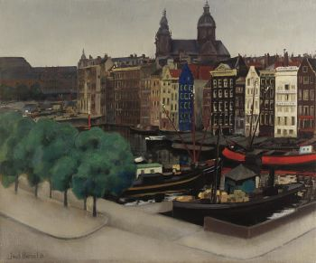 A view of the Damrak with the St.-Nicolaaskerk by Jack Hamel