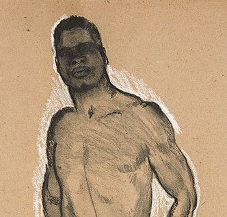Standing male nude by Jan Sluijters