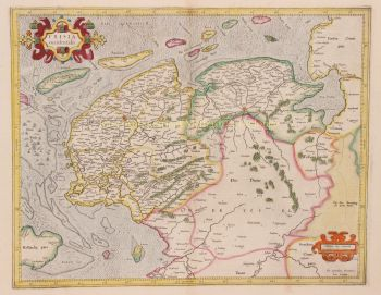 Friesland- Groningen- Drenthe  by  Gerard Mercator