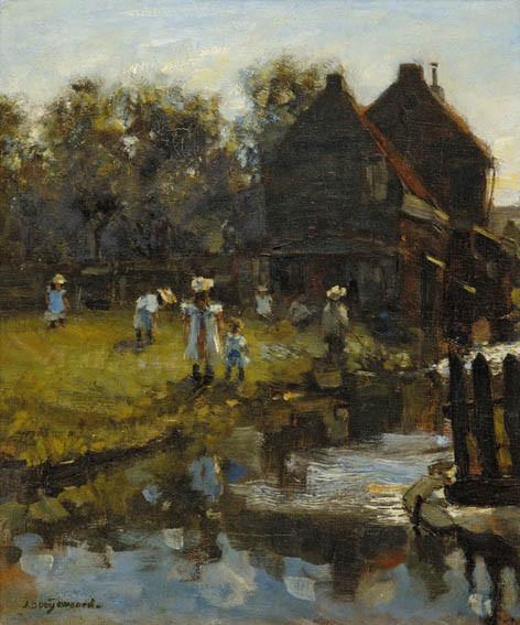 Playing children by Jacob Dooijewaard