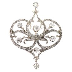 Vintage Belle Epoque diamond brooch by Unknown Artist