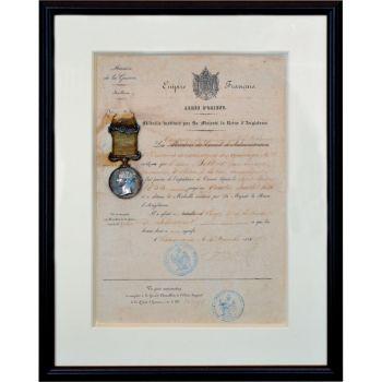 British Crimean War medal with original certificate by Unknown Artist