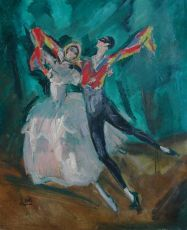 Dancing couple by Charles Felix Gir
