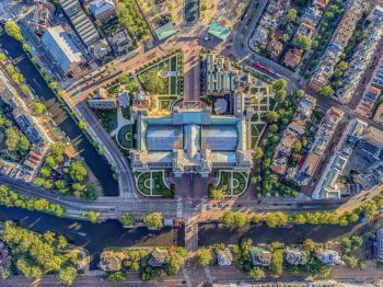 Rijksmuseum - Amsterdam Aerials by Jeffrey Milstein