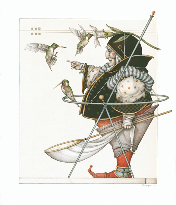 The Hummingbird Collector by Michael Parkes