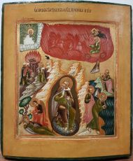 Antique Russian icon: The Life of the Prophet Elijah by Old Believers Workshop