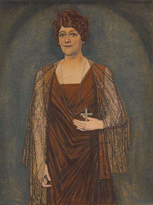 Portrait of J. M. H. Knoops-Terhoeven by Jan Toorop