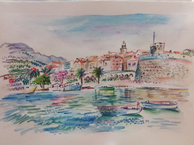 Boats City Coast Korcula Croatia by Iam Anna