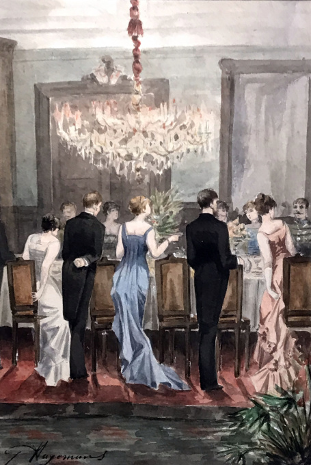Festive gathering by Germaine Hagemans