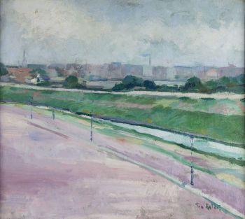 View from the artist's studio (Suezkade Rotterdam) by Toon Kelder