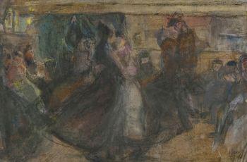 Dance Hall on the Zeedijk by Isaac Israels