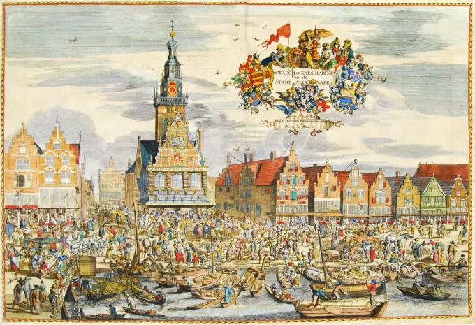 Cheese market Alkmaar by Romeyn de Hooghe