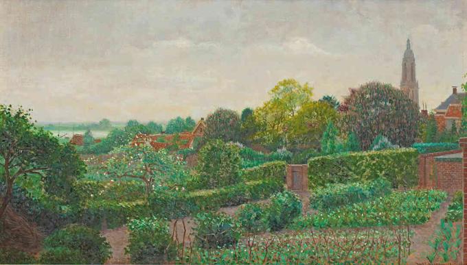 View of Rhenen by Ferdinand Hart Nibbrig