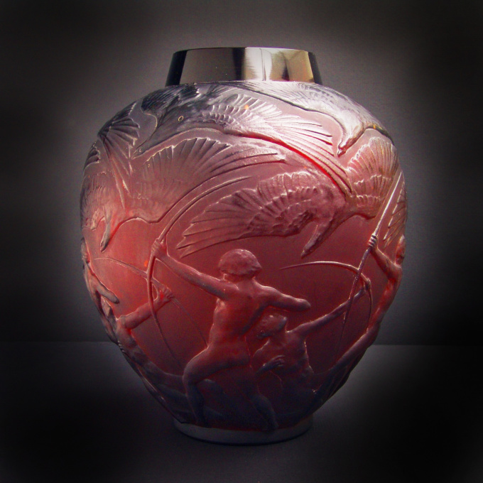 "Vase ""Archers"" by René Lalique"