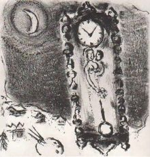 Les Pendules by Marc Chagall
