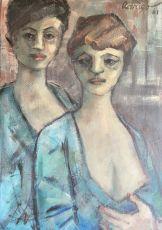 Two women by Jan Rodrigo