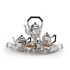 German silver tea and coffee service by Hermann Behrnd