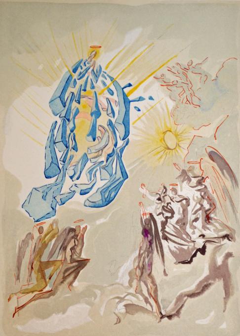 Divina commedia paradiso 26 by Salvador Dali