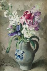 Flower Still Life by Edmond J. L. H. Wingen