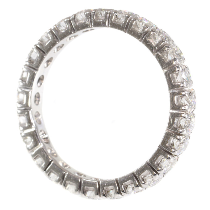 18K white gold estate eternity band with 2.50 carat diamonds by Unknown