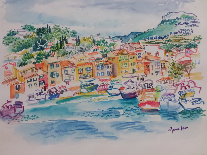 Cassis City in France  by Iam Anna