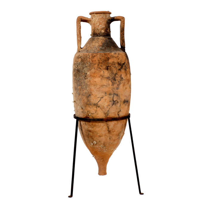 A Roman shipwrecked terracotta wine transport amphora by Unknown Artist