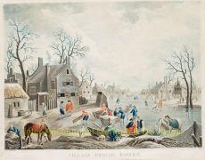 Winter scene  Haarlem, naar Jan van Breda by Jean Mariette