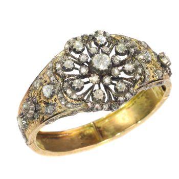 Vintage Victorian style diamond bangle by Unknown Artist
