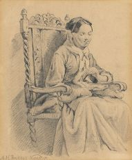 Woman in chair by Alexander Hugo Bakker Korff