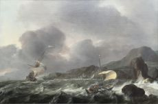 Ships for a rugged coast by Ludolf Bakhuizen