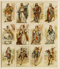 Viennese costumed card game by Ferdinand Piatnik