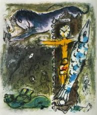 Le Christ a l'Horloge by Marc Chagall