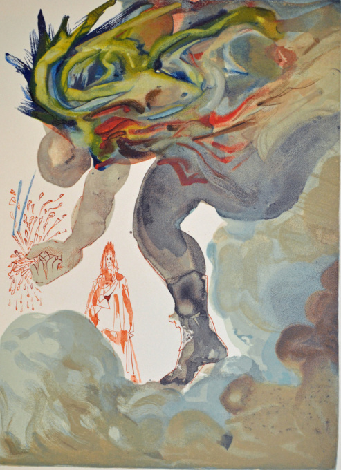 Divina commedia inferno 31 by Salvador Dali