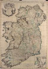 SPECTACULAR MAP OF IRELAND  by Jaillot, Hubert