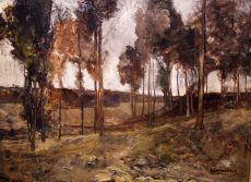 Landscape in Limburg, the south of the Netherlands by Willem van Konijnenburg