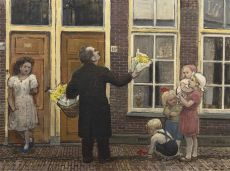 A flower seller by Harm Kamerlingh Onnes