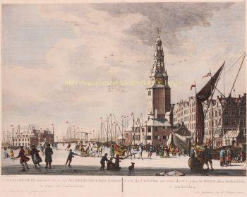 Amsterdam, het Ij by  Pierre Fouquet after Herman Schouten