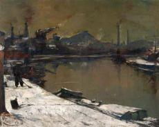 La Sambre en hiver by Pierre Paulus