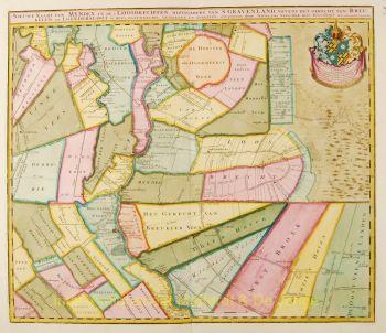 Vechtstreek antieke kaart  by  Petrus Schenk