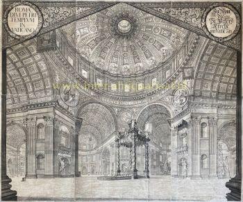 St. Peter's Basilica interior  by  Johann Ulrich Kraus after Johann Andreas Graff