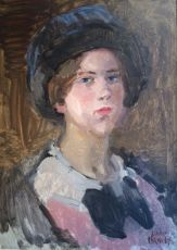 Portrait of a Young Woman Wearing a Hat by Isaac Israels