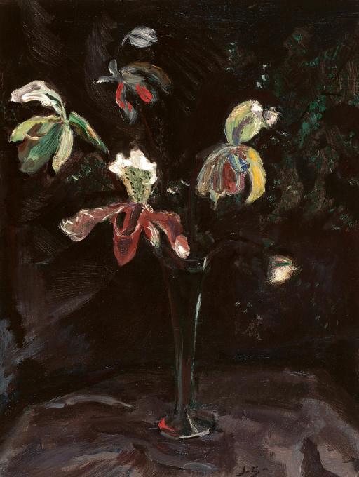 Orchids in a vase by Jan Sluijters