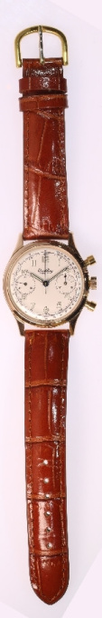 Vintage gold Breitling Mens Watch, 1945 fully refurbished by Breitling Switzerland by Unknown