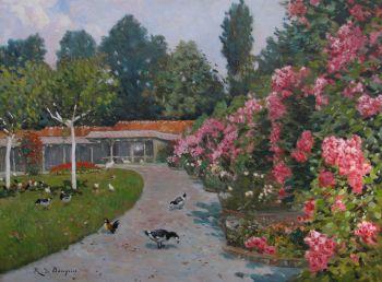 Park te Ukkel (Brussel) by René de Baugnies