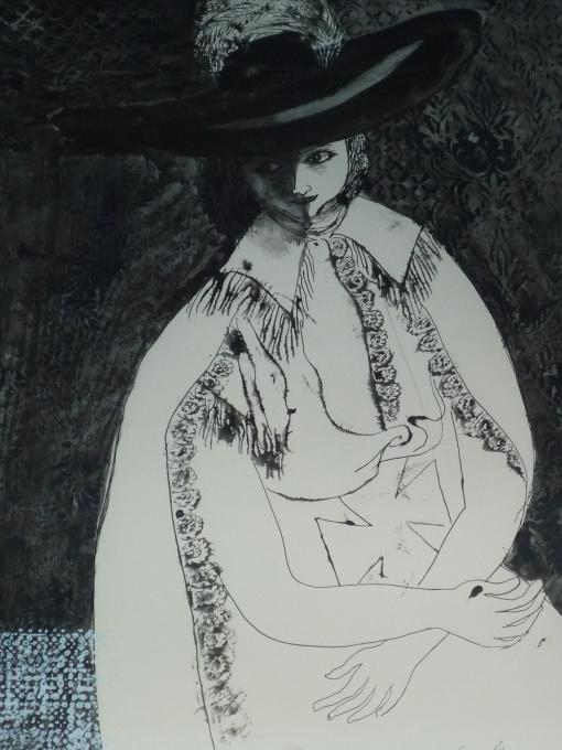 'Dame met hoed' by Charles Eyck