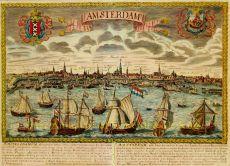Profiel van Amsterdam, uitgegeven door Jollain te Parijs ca. 1644 by Jollain