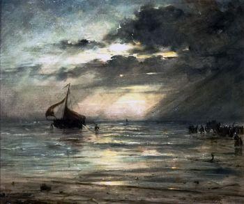 Back from fishing by Edward Antoon Portielje