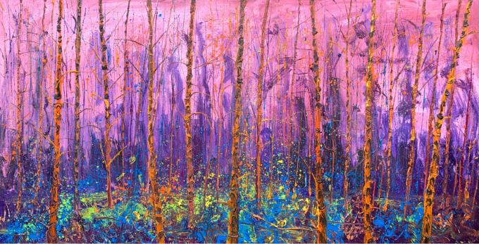 Orange birches by Gertjan Scholte-Albers